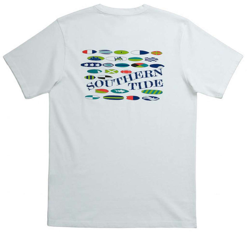 Men's Tee Shirts - Riptide Tee Shirt In White By Southern Tide