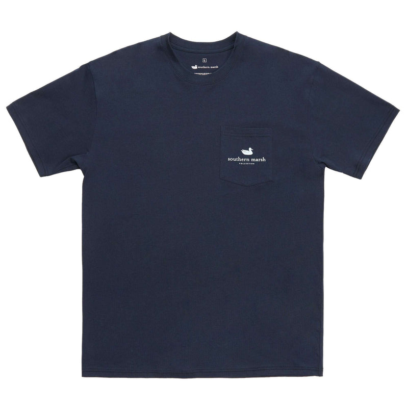 River Route Collection - North Carolina & South Carolina Tee in Navy by Southern Marsh