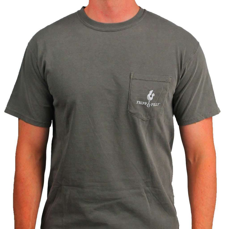 Men's Tee Shirts - Rocker And Hound Tee In Tumbleweed Grey By Fripp & Folly
