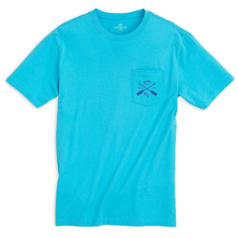 Men's Tee Shirts - Rocky Shores Tee Shirt In Turquoise By Southern Tide