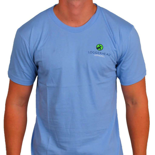 Roosevelt Tee in Battery Blue by Loggerhead Apparel - FINAL SALE