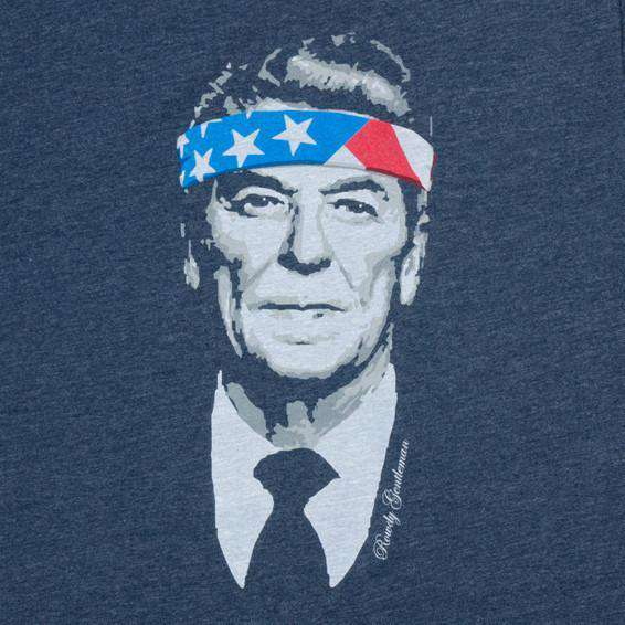 Men's Tee Shirts - Rowdy Reagan Vintage Tee In Navy By Rowdy Gentleman - FINAL SALE