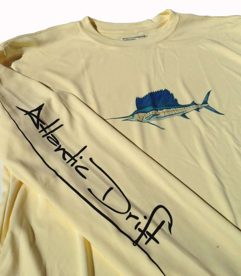 Sailfish Performance Long Sleeve Shirt in Yellow by Atlantic Drift - FINAL SALE
