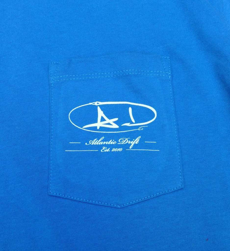 Sailfish Shield Pocket Tee in Aqua by Atlantic Drift - FINAL SALE