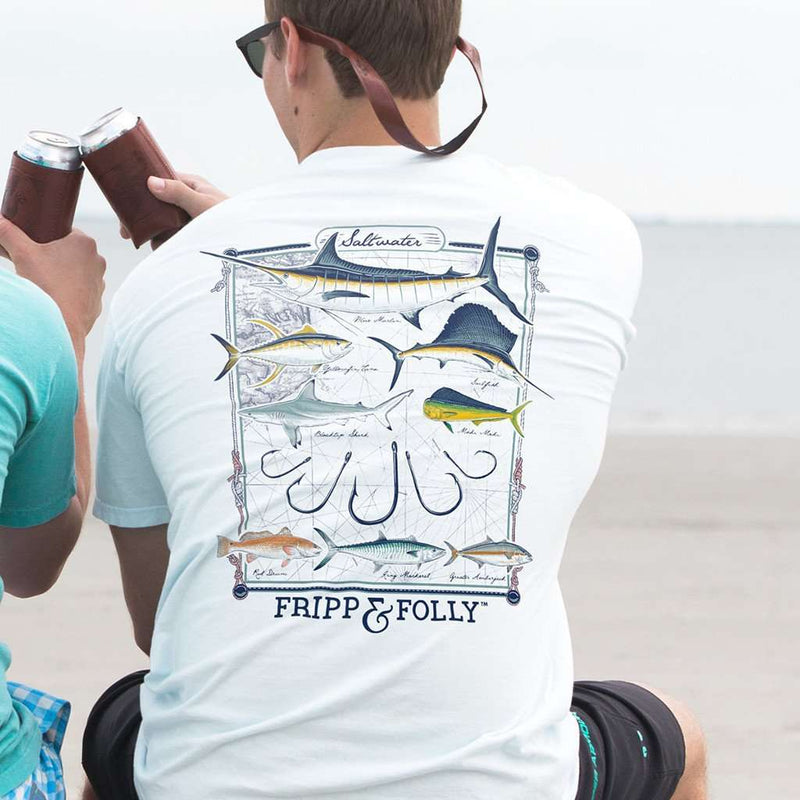 Saltwater Collection Tee in White by Fripp & Folly - FINAL SALE