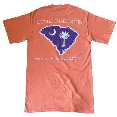 Men's Tee Shirts - SC Clemson Gameday T-Shirt In Orange By State Traditions