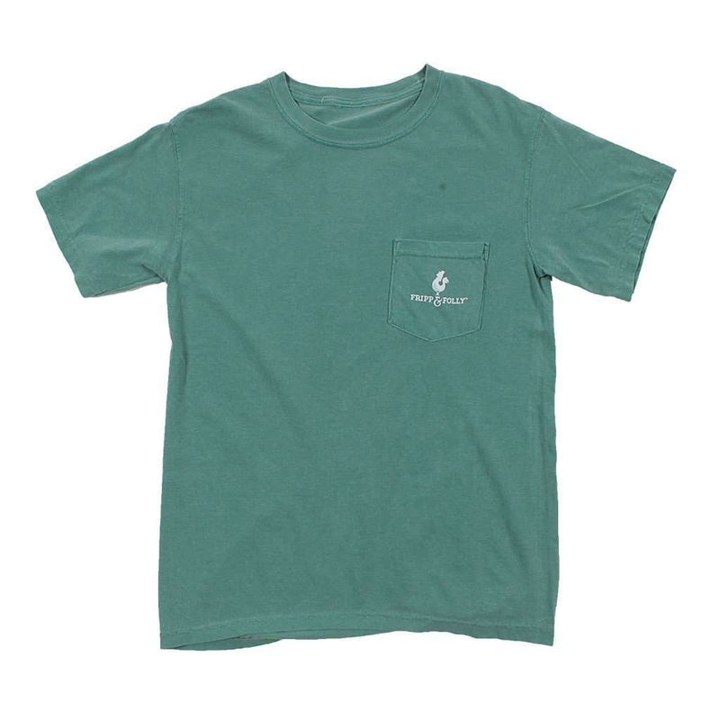 Seasons of Hunting Tee in Light Green by Fripp & Folly