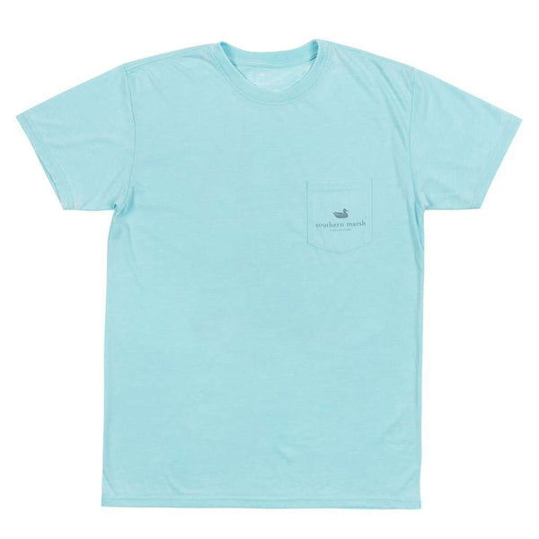 Men's Tee Shirts - SEAWASH™ Sail Away Tee In Antigua Blue By Southern Marsh