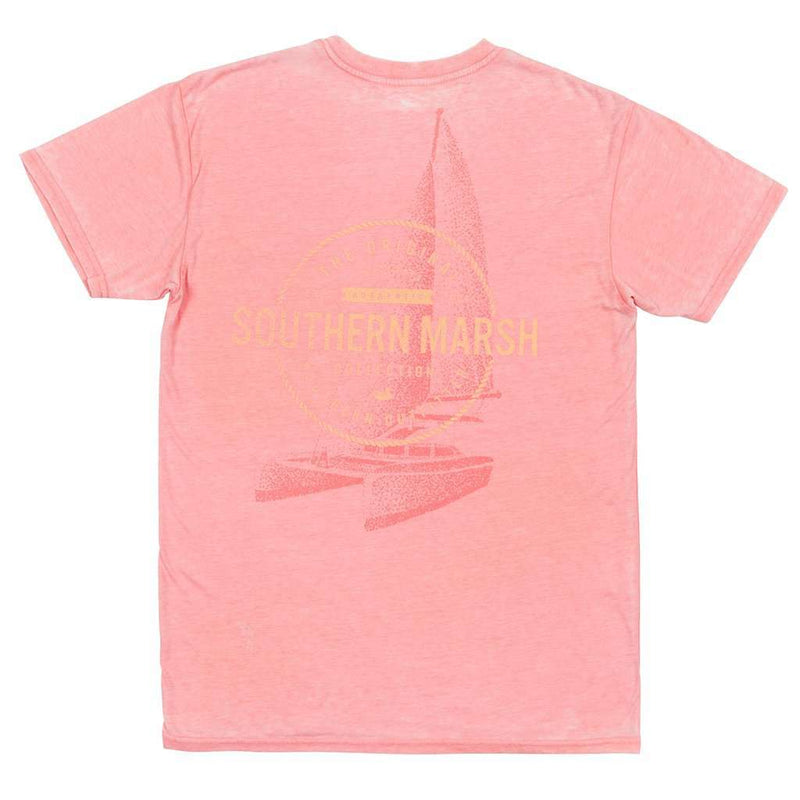 Men's Tee Shirts - SEAWASH™ Sail Away Tee In Coral By Southern Marsh