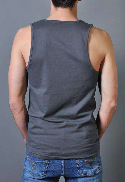 Sex, Drugs, and Wagon Wheel Tank Top in Metal Gray by Rowdy Gentleman - FINAL SALE