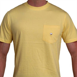 Men's Tee Shirts - Short Sleeve Pocket Tee In Maize By Cotton Brothers