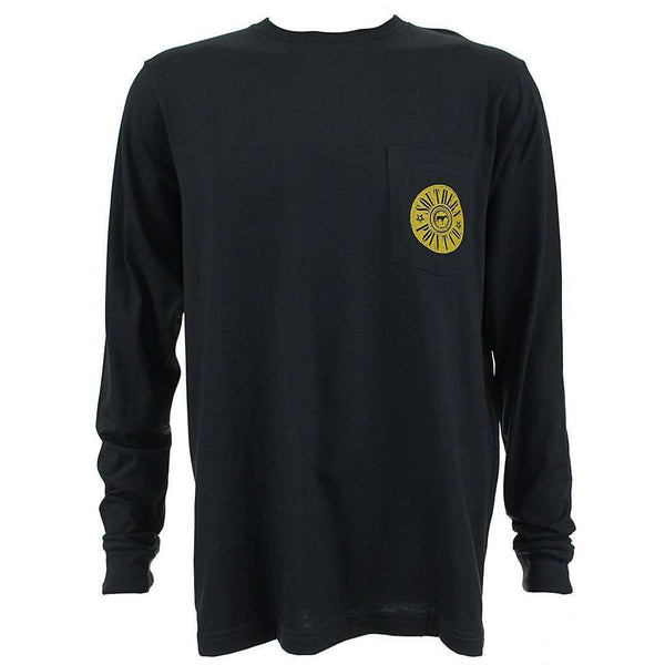Shotgun Shell Mallard Long Sleeve Tee in Black by Southern Point Co. - FINAL SALE