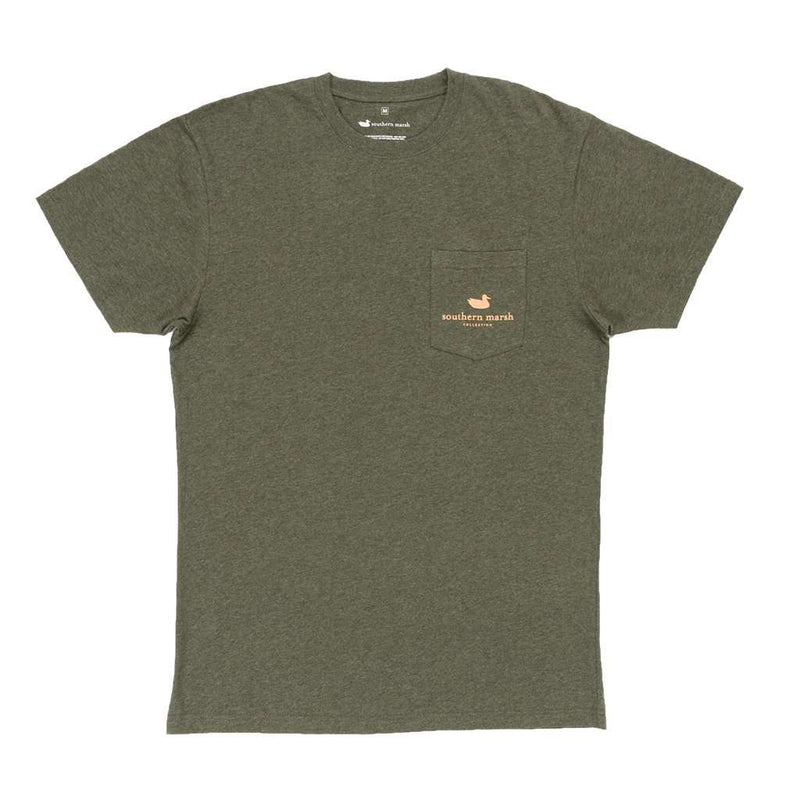 Shotgun Shell Tee in Washed Dark Green by Southern Marsh