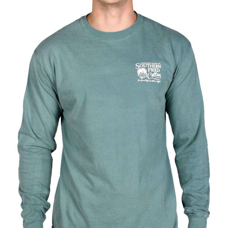 Shotgun Shells Long Sleeve Tee Shirt in Green by Southern Fried Cotton