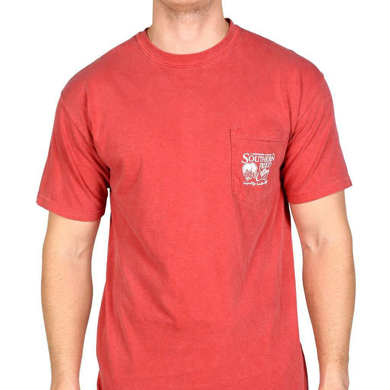 Shotgun Shells Short Sleeve Tee Shirt in Crimson by Southern Fried Cotton