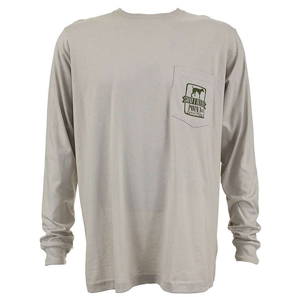 Signature Flags Long Sleeve Tee in Sandstone by Southern Point Co. - FINAL SALE