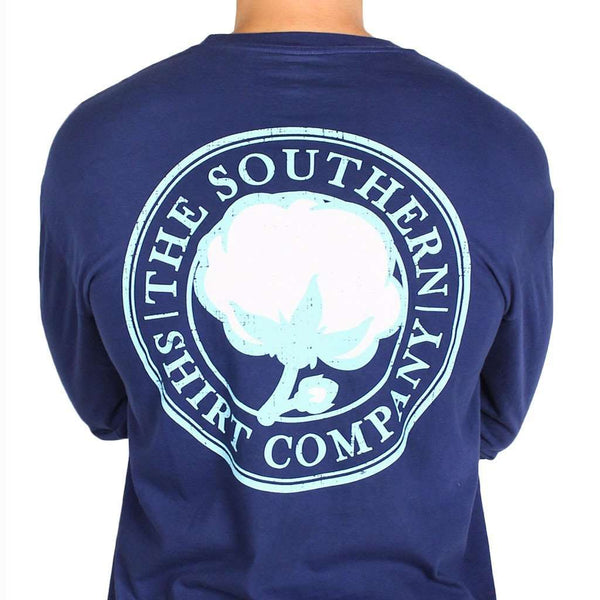 Signature Long Sleeve Logo Tee in Navy by The Southern Shirt Co. - Country Club Prep