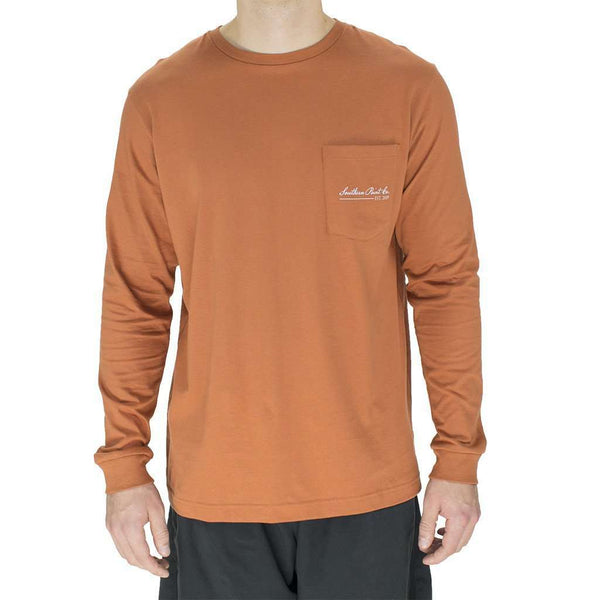 Signature Pointer Long Sleeve Tee Shirt in Burnt Orange by Southern Point Co.