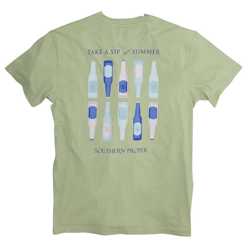 Men's Tee Shirts - Sip Of Summer Tee In Moss By Southern Proper