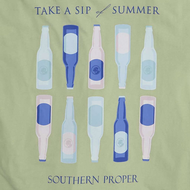 Sip of Summer Tee in Moss by Southern Proper