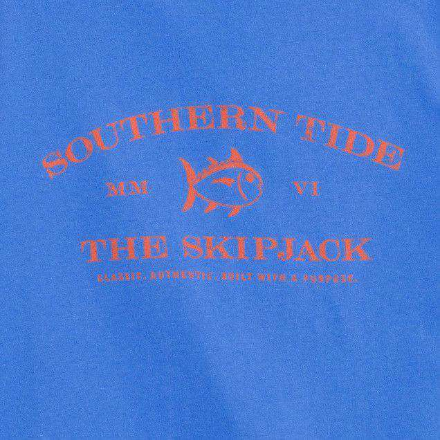 Skipjack Front Print Tee Shirt in Meridian Blue by Southern Tide