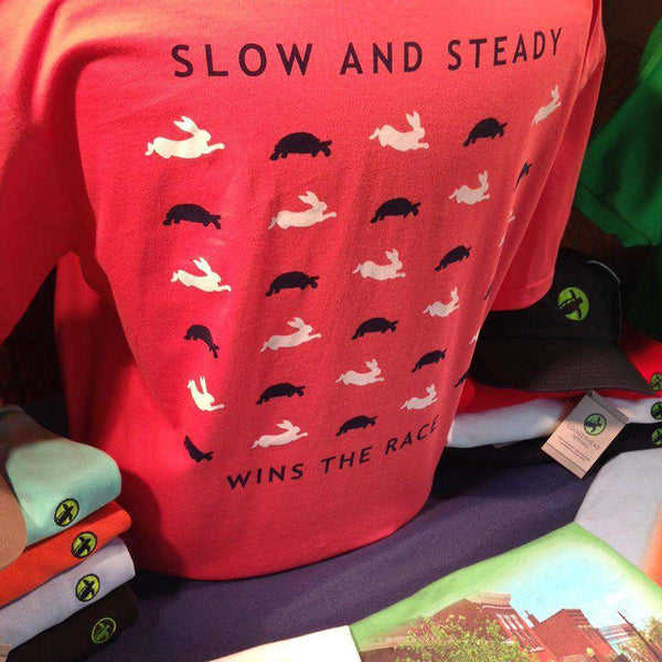 Slow & Steady Pocket Tee in Sockeye Red by Loggerhead Apparel - FINAL SALE