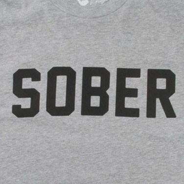 Sober Vintage Tee Shirt in Grey by Rowdy Gentleman - FINAL SALE