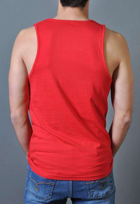 Sorry for Grand Old Partying Tank Top in Red by Rowdy Gentleman - FINAL SALE