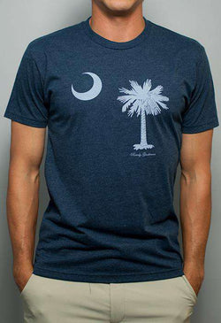 South Carolina State Pride Vintage Tee in Faded Blue by Rowdy Gentleman - FINAL SALE