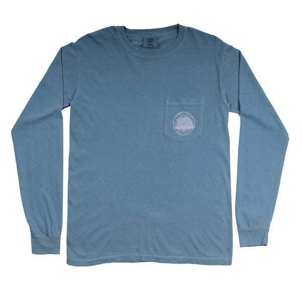 "Southern Essentials ""Deer Hunt"" Long Sleeve Tee in Ice Blue by Live Oak - FINAL SALE"