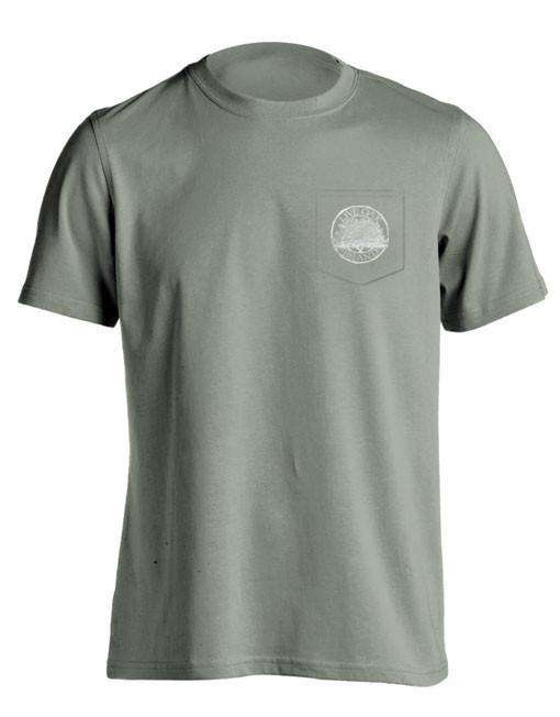 "Southern Essentials ""Salt Fishing Essentials"" Short Sleeve Pocket Tee in Sandstone by Live Oak"