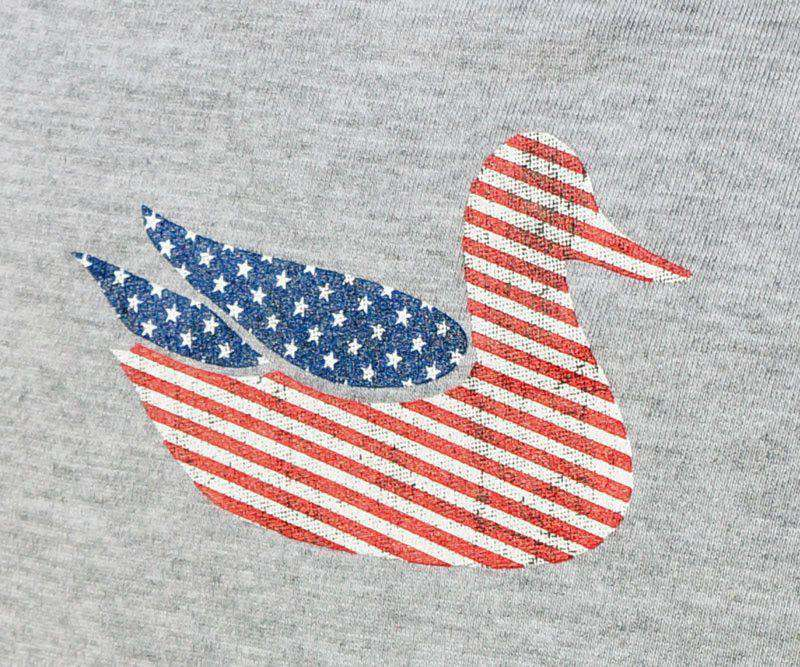 Men's Tee Shirts - Southern Marsh Authentic Flag Tee In Light Gray By Southern Marsh