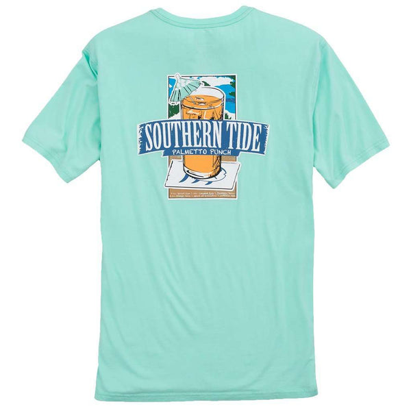 Men's Tee Shirts - Southern Mix T-Shirt In Offshore Green By Southern Tide