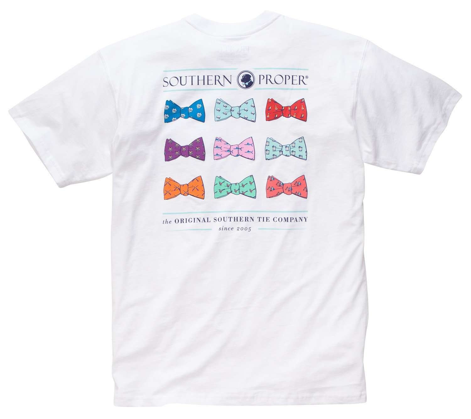 Men's Tee Shirts - Southern Proper Bow Tie Tee In White By Southern Proper