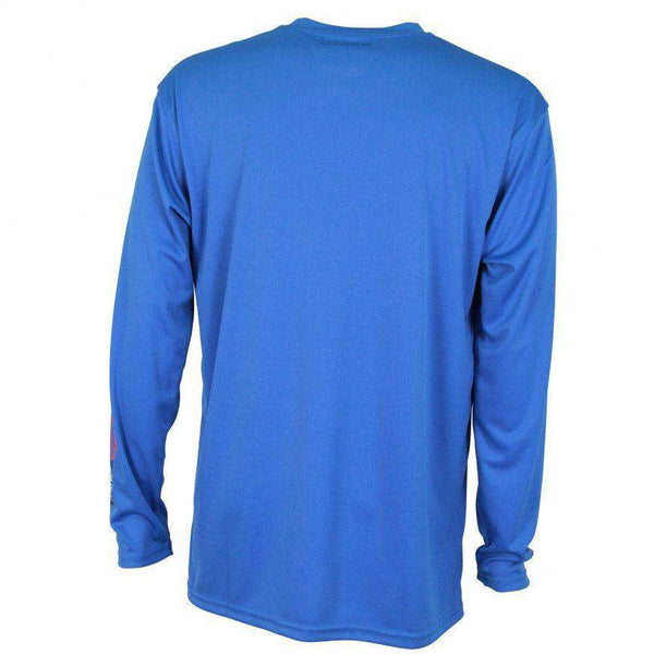 Spangled Long Sleeve Sun Shirt in Royal Blue by AFTCO