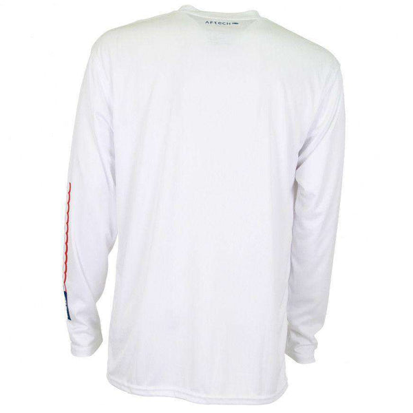 Spangled Long Sleeve Sun Shirt in White by AFTCO