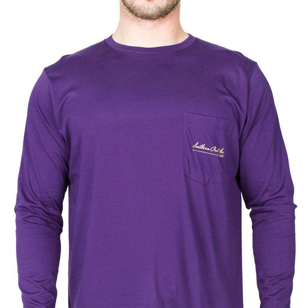 SPC Long Sleeve Plaid Antler Tee in Purple by Southern Point Co.  - 2