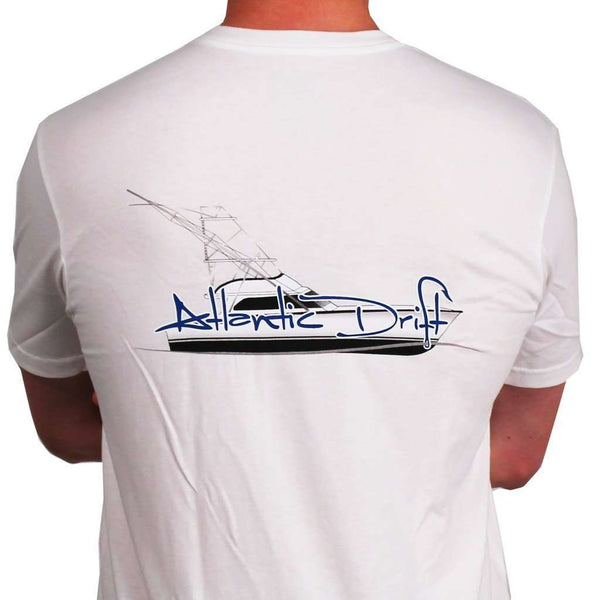 Men's Tee Shirts - Sportfisher Pocket Tee In White By Atlantic Drift - FINAL SALE