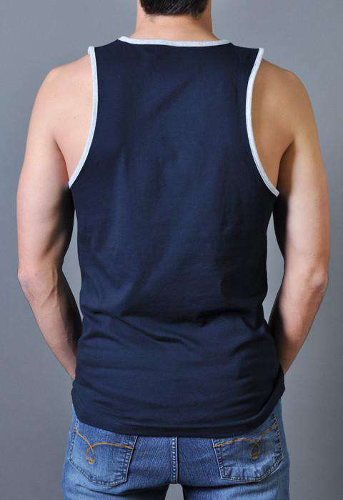 Star Spangled Hammered Tank Top in Navy by Rowdy Gentleman - FINAL SALE