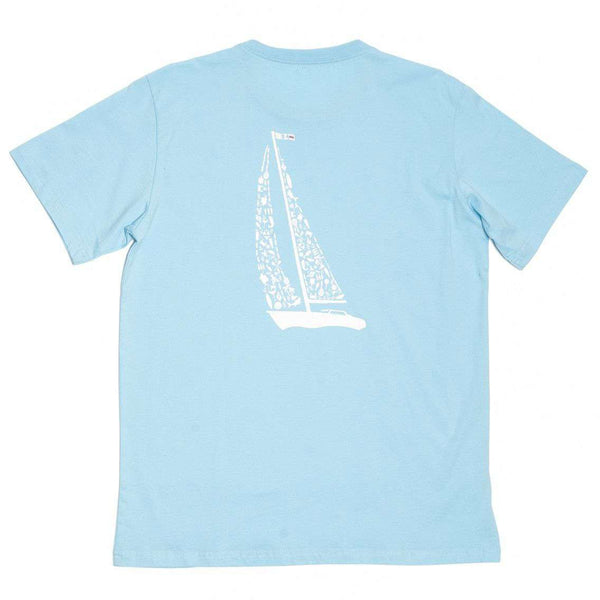 Summer Sails Tee Shirt in Light Blue by Krass & Co. - FINAL SALE