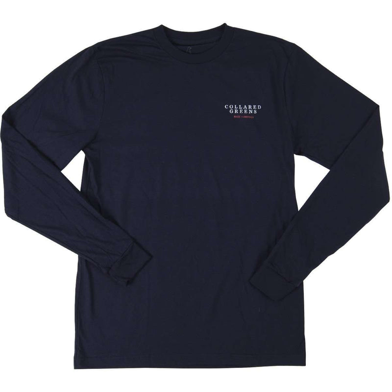 Summit Long Sleeve Tee in Navy by Collared Greens