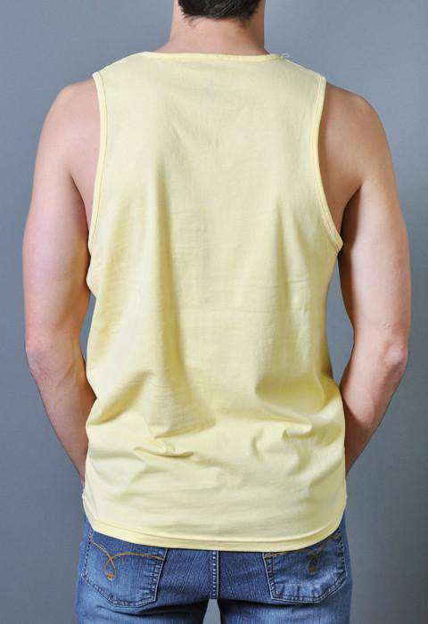 Sun's Out Guns Out Tank Top in Yellow by Rowdy Gentleman - FINAL SALE