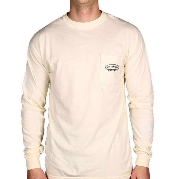 Teddy Roosevelt Long Sleeve Tee in Ivory by WM Lamb & Son
