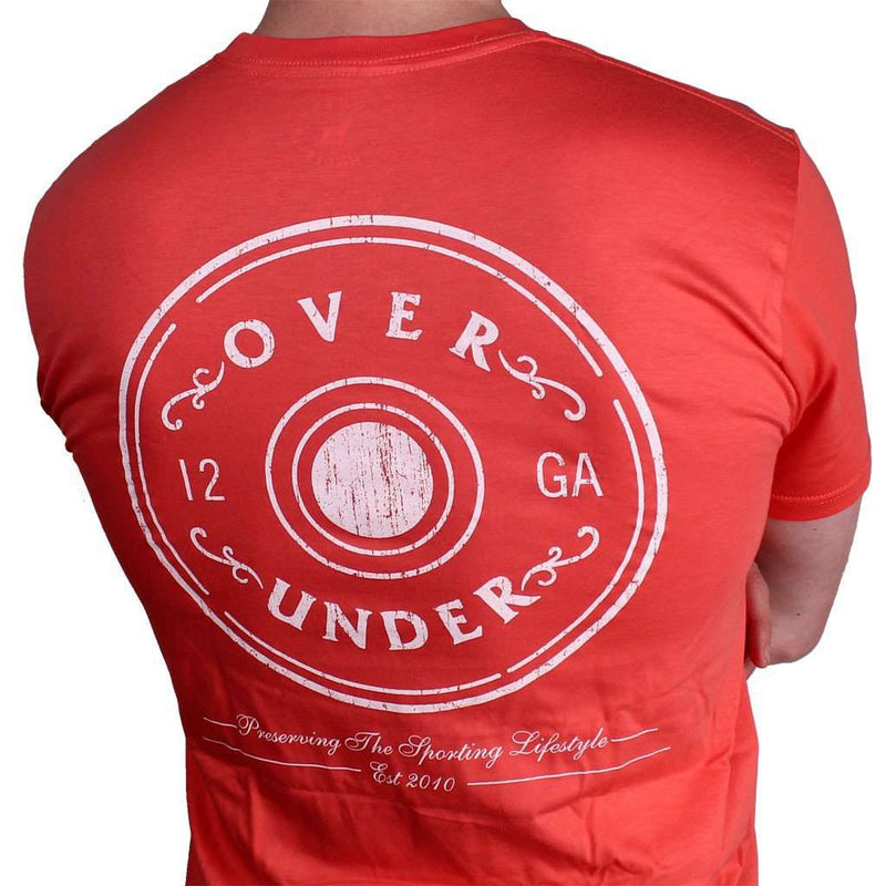 Men's Tee Shirts - The Antique Shotgun Shell Tee In Nantucket Red By Over Under Clothing