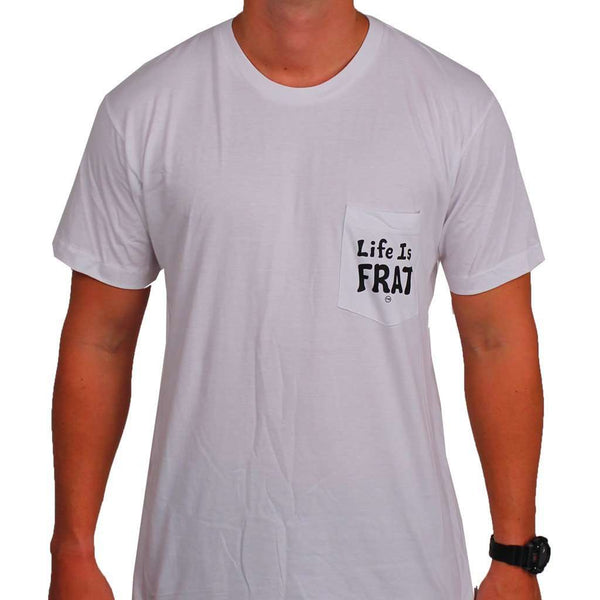 The Essentials Pocket Tee in White by Life Is Frat - FINAL SALE