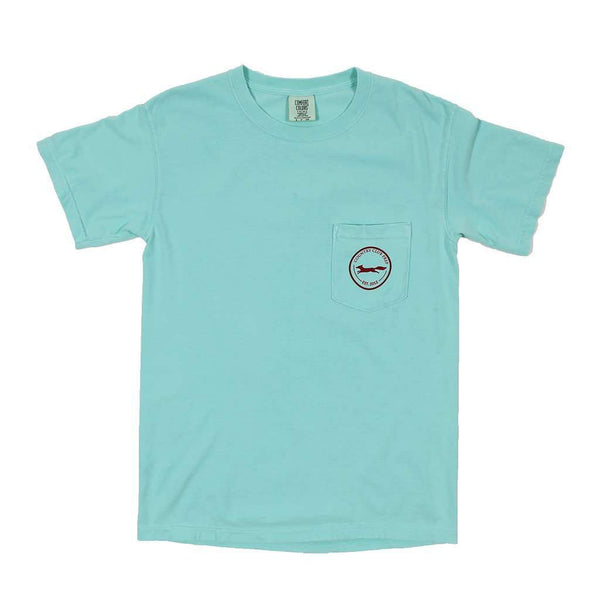 Men's Tee Shirts - The Hawaiian Fill Original Logo Tee Shirt In Chalky Mint By Country Club Prep