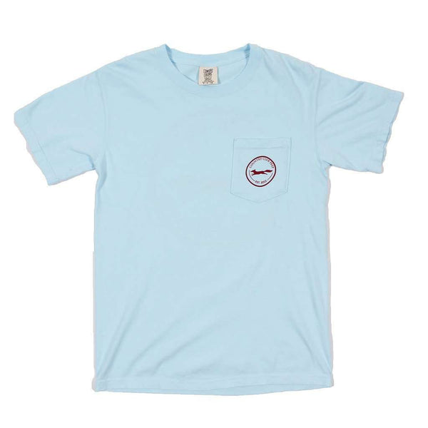 Men's Tee Shirts - The Hawaiian Fill Original Logo Tee Shirt In Chambray By Country Club Prep