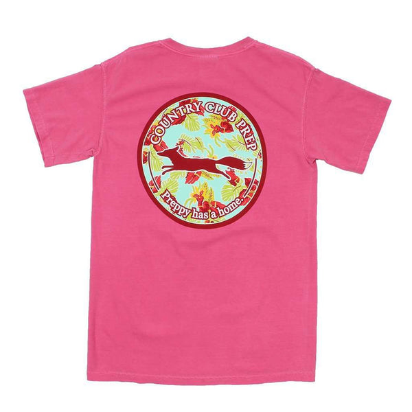 Men's Tee Shirts - The Hawaiian Fill Original Logo Tee Shirt In Crunchberry By Country Club Prep