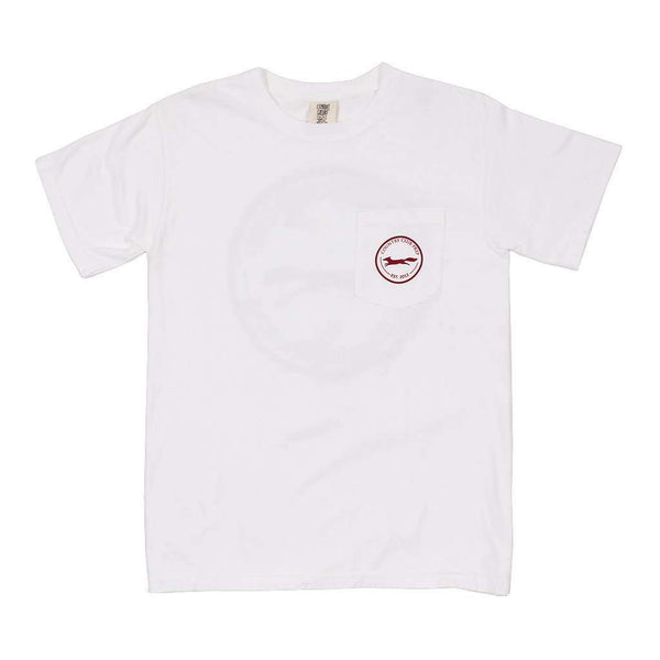 Men's Tee Shirts - The Hawaiian Fill Original Logo Tee Shirt In White By Country Club Prep