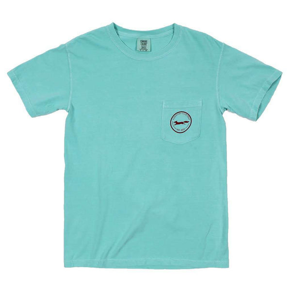 Men's Tee Shirts - The Hawaiian Outline Logo Tee Shirt In Chalky Mint By Country Club Prep